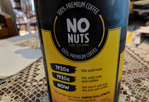 Chock Full o' Nuts can